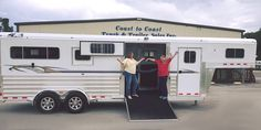 Nobody is more excited than Katelyn!!!This young lady has been waiting for her Custom Ordered 2017 4-Star Trailer to arrive! Now her family can be independent to haul to events and dressage shows! Thank-you, Dad and Mom, aka DAN and Christy from Winter Haven, Florida for making Coast to Coast Trailers and 4-Star Trailers their Horse Trailer Dealer. (888) 860-1360