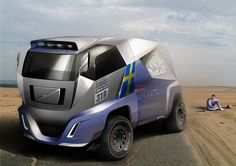 "Volvo Dakar Truck [ ""Vol Tow Truck, Big Trucks, Future Trucks, Road Train, Heavy Truck, Truck Design, Car Sketch, Transportation Design, Car Accessories"
