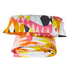 Kip & Co Croc Orange Single Duvet & Pillowcase Set | Available at www.LETLIV.co.nz