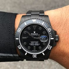 """Newly Imagined for David H. #NYC #SOLD ✔congrats on this 1/1 #Bamford Super Matte Black MGTC (Military Grade Titanium Coating) #Rolex #Submariner #116610 #Bespoke 'Ghost Dial'. """"If you can imagine it, we can create it."""" #BWD . Orders Gagan@Bamfordwatchdepartment.com. David thank you for this fabulous design ."""