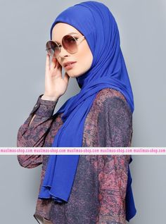 Abbigliameto Halal Islamico Negozio Online  #islamic #hijab #modest #fashion product  Jersey Combed Cotton Shawl - Saxe - Rabia Z - Fabric Info:  100% Combed Cotton  Weight: 0.226 kg  Sizes:  Width: 75 cm  Height: 200 cm - SKU: 200471. Buy now at http://muslimas-shop.com/jersey-combed-cotton-shawl-saxe-rabia-z200471.html