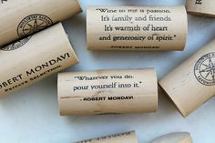 Nautical Craft Corks  Wine Corks with Quotes  wine by TheWoodenBee