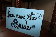 here comes the bride! Here Comes The Bride, Wedding, Home Decor, Valentines Day Weddings, Decoration Home, Room Decor, Weddings, Mariage, Marriage