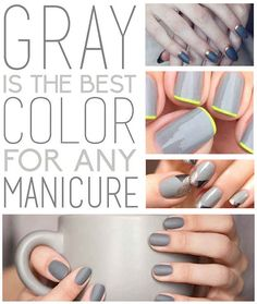 Gray Is The Best Color For Any Manicure - BuzzFeed
