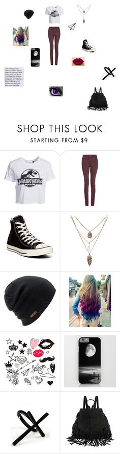 """""""Me In Jurassic World"""" by maxilicious ❤ liked on Polyvore featuring New Look, dVb Victoria Beckham, Converse, Coal and Emi Jewellery"""