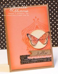 """hybird MDS Teneale Williams (This card is so gorgeous!) MDS image (butterfly) from """"Wonderful Wings""""; background image is """"Beautifully Baroque"""";"""