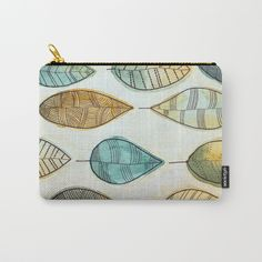 Rustic Leaves Carry-All Pouch by lorimoro Carry On, Zip Around Wallet, Coin Purse, Pouch, Leaves, Rustic, Purses, Stuff To Buy, Products