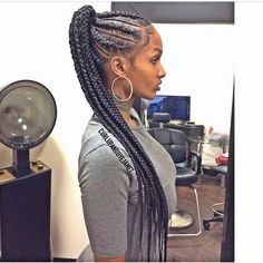 Cornrow goals via @curlupanddyejanet #beautiffulcurls Follow @beautiffulcurls on Instagram!