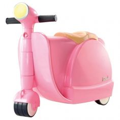 I just bought this for Abigail!! It's a suitcase and scooter all in 1 and it is carry on size. awesome!!!
