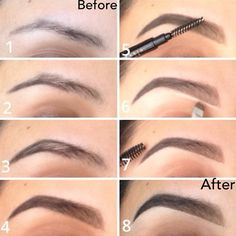 Brow Shaping Tutorials - Brow Shaping Tutorial - Awesome Makeup Tips for How To Get Beautiful Arches, Amazing Eye Looks and Perfect Eyebrows - Make Up Products and Beauty Tricks for All Different Hair Colors along with Guides for Different Eyeshadows - ht Perfect Eyebrow Shape, Perfect Brows, Makeup Tips, Beauty Makeup, Makeup Tutorials, Makeup Ideas, Diy Makeup, Eyebrow Kits, Eyebrow Makeup