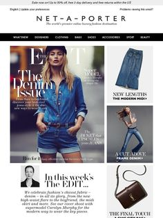 The EDIT's Denim Issue, starring supermodel Carolyn Murphy - Net-A-Porter