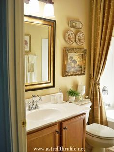 Guest Bath On Pinterest Shower Curtains French Country