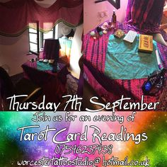Looking for something different to do with your friends? Well we can help with that. On the 7th September we'll be holding an evening of tarot card readings. You can come just for the readings or if you'd like you and up to 4 friends can book a meal to be had before or after your readings the meal with be at the Farriers Arms ( http://ift.tt/2uT9oNe) where the Head Chef Shaun is creating some amazing evening menus on a Thursday and Friday. We are also offering vouchers for the evening so if…