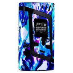 Amazon.com: PIMP MY VAPE - Custom Protective Vinyl Decal for ecig (e-cigarette) SMOK ALIEN 220W TC Cover - Best quality skin - Second life to your box mod, wrap and enjoy + BONUS STICKER (Aqua Marble): Cell Phones & Accessories