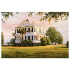 Southern Plantation Revisited ❤ liked on Polyvore featuring houses