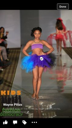 Shay on the runway in NYC.. Kids Fashion Week