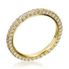 Michael B. - Princess 3-Sided 18K Yellow Gold Wedding Band..wedding style eternity bands