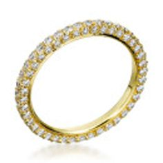 Michael B. - Princess 3-Sided 18K Yellow Gold Wedding Band..wedding style eternity bands