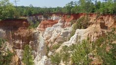 Providence Canyon, one of the seven natural wonders of Georgia.