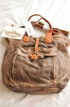 Campomaggi brown leather bag