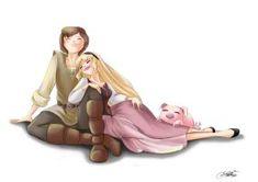 Eilonwy and Taran... by SilverCatseyes