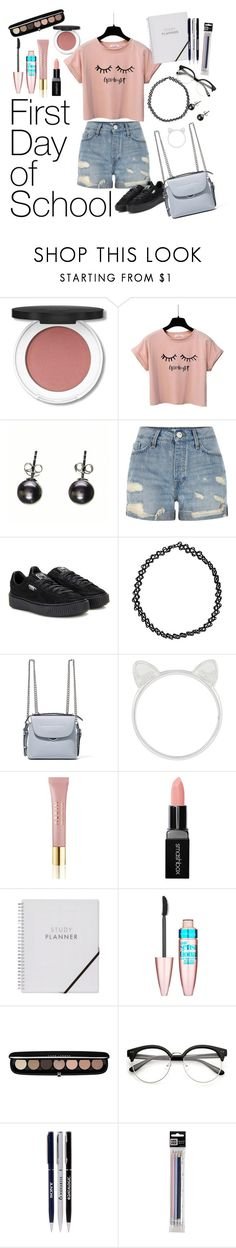 """First Day At School"" by shosho-mahmmod ❤ liked on Polyvore featuring Black, River Island, Puma, Boohoo, Fendi, Accessorize, AERIN, Smashbox, Maybelline and Marc Jacobs"
