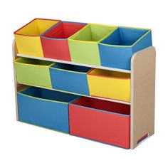 Found it at Wayfair - Multi-Color Deluxe Toy Organizer with Bins