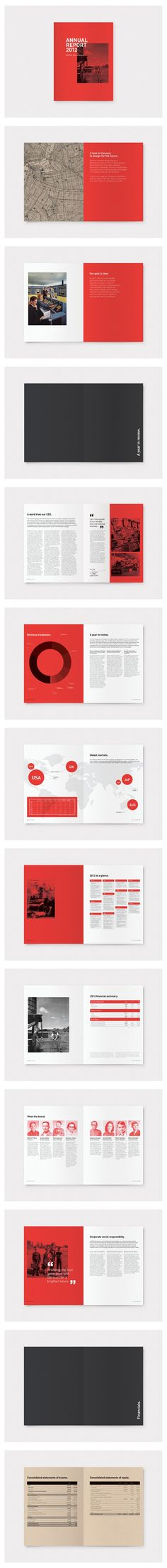If I had the freedom to design our annual report, people would actually read it :) :: Annual Report  2012 #infographics