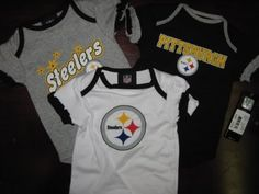 Pittsburgh Steelers NFL Newborn Baby GIRLS Set of 3 Bodysuit - Onesie $9.99 football-clothing