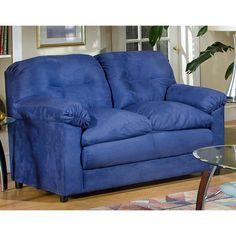 Have to have it. Chelsea 6300-L-CB Lisa Loveseat - Cobalt Blue $549.99