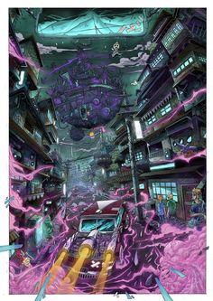 Steampunk City coloring version by sifterone.deviantart.com on @DeviantArt