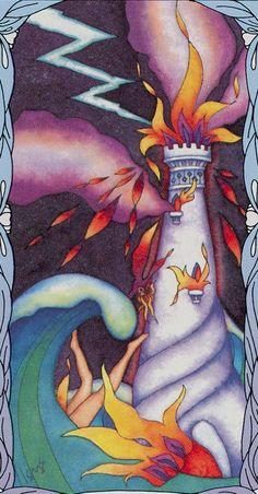 XVI. The Tower: Tarot of a Moon Garden