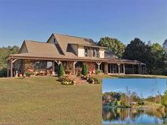 Equestrian Estate for Sale in Polk County , North Carolina. 47.69 acre farm in bucolic setting, 8 mls from TIEC! (Tryon International Equestrian Center, home of the 2018 World Equestrian Games! Long, meandering dr -CAN'T SEE FROM ROAD - NO DRIVE-BYS, passes fenced rolling pastures, 100+ yr old oaks, and spring fed pond. Don't miss the video below!