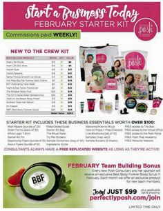 The new posh kit for joining perfectly posh!!.. Go to https://amberlp.po.sh to sign up and get your posh starter kit and join my team and get the exclusive bonus BFF body scrub!!! #joinmyteam #perfectlyposh #februarystarterkits #exclusiveproduct #BBFbodyscrub