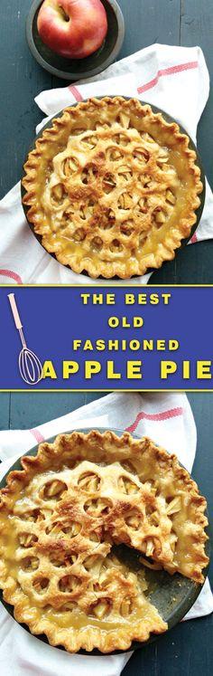 Old Fashioned Apple Pie - The BEST apple pie of the season, juicy ...
