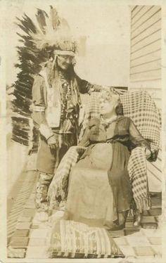 Red Wolf (Oglala), Louisa Cody (widow of Buffalo Bill Cody) - circa 1918