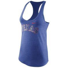 Texas Rangers Nike Women's Chrome Radness Tri-Blend Tank Top - Royal