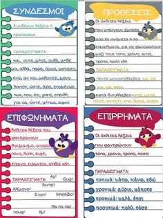 Πέμπτη Aνάβαση: Τα μέρη του λόγου Learn Greek, 5th Grades, Grammar, Teaching, Education, Blog, Hue, School, Fifth Grade