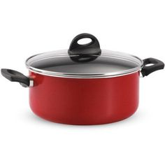 Tramontina 5-Quart EveryDay Non-Stick Covered Dutch Oven, Red