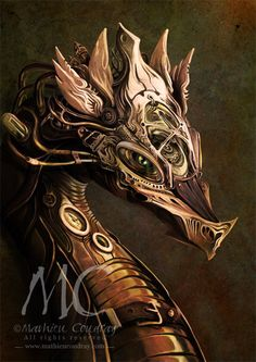 Dragon Steampunk by CoudrayMathieu on deviantART   Oooh Dragons! I love dragons. Wouldn't want to meet one in person though. Faeries and Trolls are bad enough.