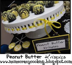 Peanut utter Krispies--A twist on traditional cake truffles....gotta try these!