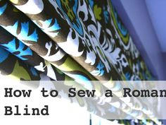 Favorite DIY.   Roman Blinds, pillows etc