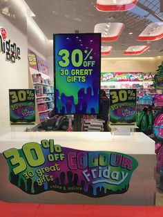 Love Smiggle's approach to Black Friday, similar to 2015 in message content and it definitely stands out in the otherwise less than inspirational Black Friday POS we saw this year