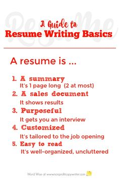 Use this guide to resume writing basics to get started writing your first resume or writing a better one Resume Writing Tips, Freelance Writing Jobs, Writing Resources, Easy Writing, Start Writing, First Resume, How To Make Resume, English Writing Skills, Job Opening