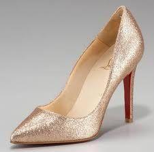 my dream wedding shoes #louboutin #goldglitter