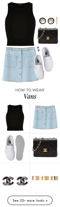 """help"" by kitkatdana on Polyvore featuring River Island, Vans, Chanel, Miu Miu, ASOS, women's clothing, women, female, woman and misses"