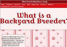 What Is a Backyard Breeder? - Animals, Insects, and Pets - Zoology