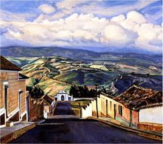 Calle de Capacho Edo Táchira. Manuel Cabré Venezuelan painter (1890 in Barcelona, Spain 1984 in Caracas) Best known as the master of the Avila Mountain. It was one of the leading figures of the Fine Arts (1912) And among peers can be considered the par excellence landscape. A true guide to the representation of landscape in Caracas. awards among which are: National Painting Prize. Photo A. Zuloaga