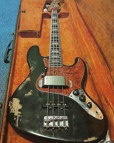 """To quote the most recent Terminator: Genisys """"Old but not obsolete."""" #weplaybass  Repost: @rozanopatria My fender jazz bass 1974  @fenderguitar @vintagefenderbass @bassplayunited @indobassgram #fenderbass #fender #jazzbass74 #jazzbass #1974 #usa #bass #bassist #jogja #yogyakarta #bassplayunited #indobassgram #indonesia #vintagebass #bassporn #bassgear #bassplayersunited #bassplayers by weplaybassofficial"""