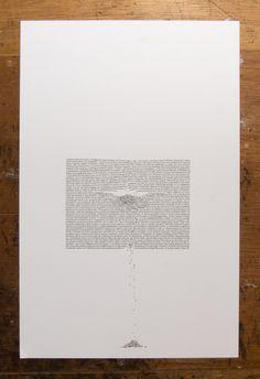 Erosion and Typography 1 (11 X 17 inch typographic print). $40.00, via Etsy.